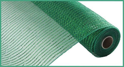 "Deco mesh - 10"" x 10yd  EMERALD GREEN Wide Foil - unique in the creek canada"