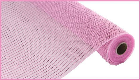 "Deco mesh - 10"" x 10yd Light PINK with pink Wide Foil - unique in the creek canada"