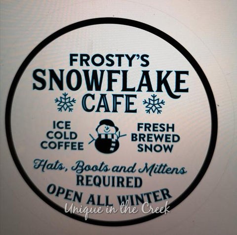"141. FROSTYS SNOWFLAKE CAFE ""PAPER"" image center"