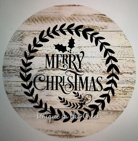 "156.  Merry Christmas Rustic ""PAPER"" image"