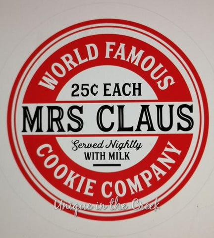 "160. world famous mrs claus cookie Co. ""PAPER"" image"