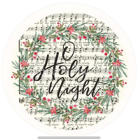 "187. O HOLY NIGHT ""PAPER"" image center"