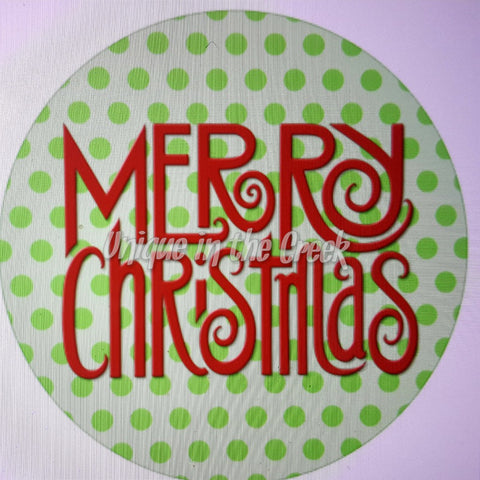 Merry Christmas Digital image for use with UITC system