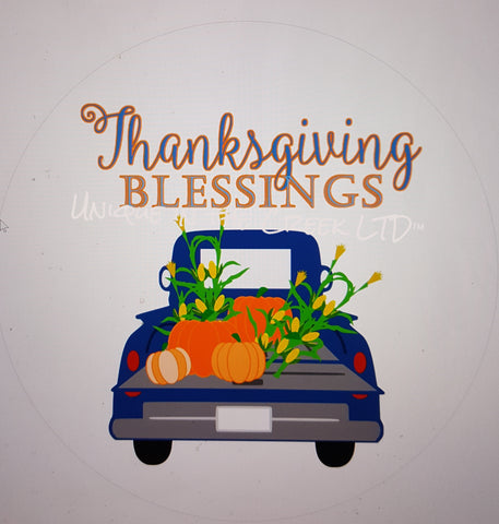 Thanksgiving Blessings truck- digital insert for use with the UITC system