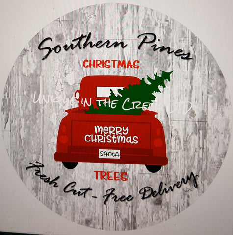 Southern Pine red truck- digital insert for use with the UITC system
