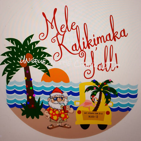 Mele Kalikimaka (sled)- digital insert for use with the UITC system