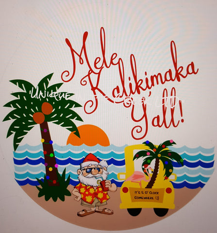 Mele Kalikimaka (5oclock)- digital insert for use with the UITC system
