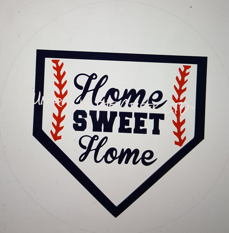 home sweet home baseball- digital insert for use with the UITC system