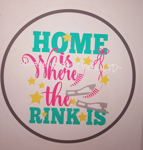 home is where the rink is ice skates- digital insert for use with the UITC system