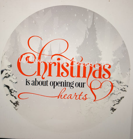 Christmas is about opening our hearts- digital insert for use with the UITC system