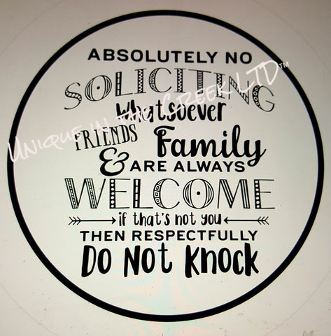 113. No Soliciting Family and Friends -digital insert for use with the UITC system