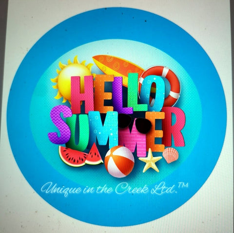 "Hello Summer 9 ""DIGITAL"" Image - Not a physical product"