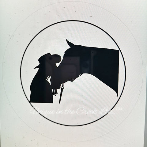 "Girl horse silhouette ""DIGITAL"" Image - Not a physical product"