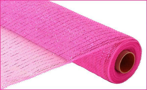 "Deco mesh - 21"" x 10yd HOT PINK with hot pink Foil - unique in the creek canada"
