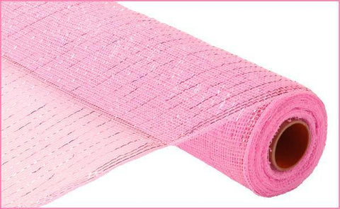 "Deco mesh - 21"" x 10yd LIGHT PINK with pink Foil - unique in the creek canada"