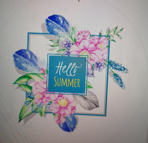 "254. HELLO SUMMER 5 ""PAPER"" image center"