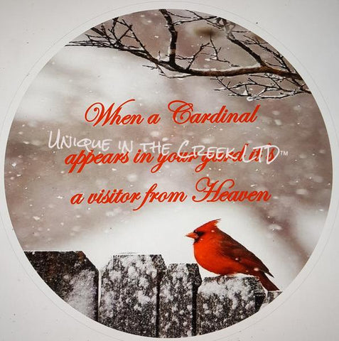 "30. WHEN A CARDINAL IS A SIGN ""VINYL"" image center"