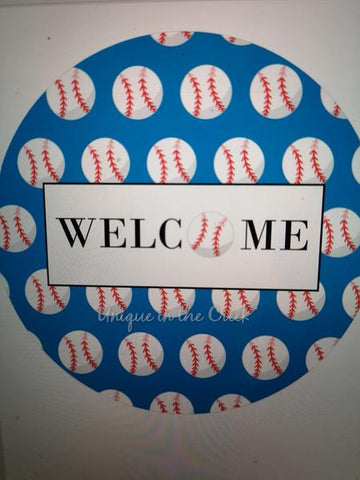 "341 . Welcome baseball""PAPER"" image center"