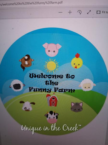 373. Welcome to the Funny Farm Paper Insert