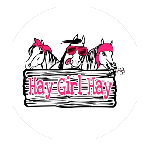 "601. HAY GIRL HAY ""PAPER"" image center"