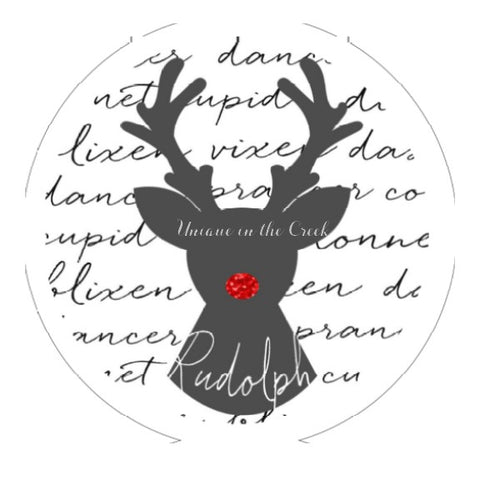 "603.  Rudolph with deer names ""PAPER"" image"