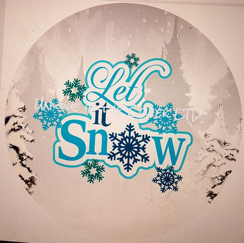 "62. LET IT SNOW BLUE ""PAPER"" image center"