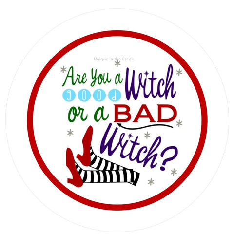 "621. are you a good witch or bad witch ""PAPER"" image center"