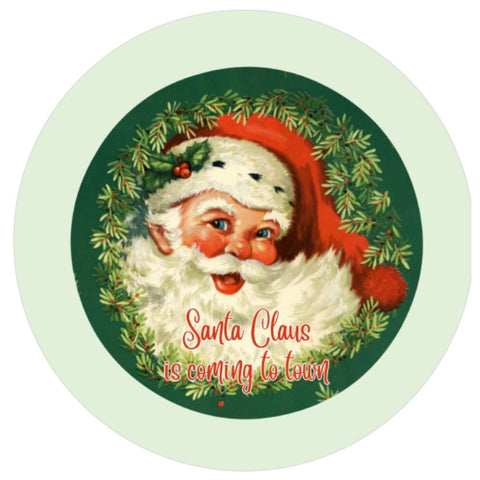 "634.  Santa Claus Retro ""VINYL"" image center"