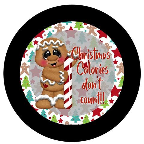"654.  Christmas Calories Don't Count  ""VINYL"" image centerl"