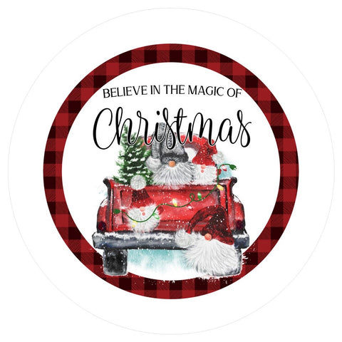 "657.  Believe in the Magic of Christmas ""VINYL"" image center"