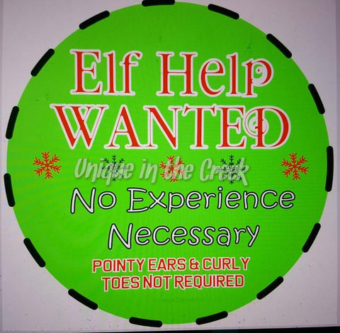 "9. ELF HELP WANTED  ""PAPER"" Image Center"
