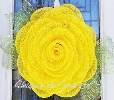 UITC™ All in One Signature Yellow Rose Wreath Kit