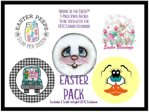 UITC™ 5 Pack of Vinyl Image Inserts Easter Themed Wreath Signage  - Includes 1 Exclusive Original Image by Artist Iveth Wright