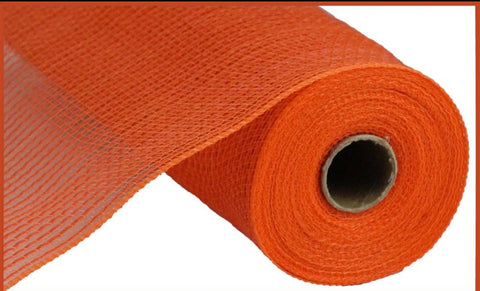 "10.5""X10yd Faux Jute/Pp Small Stripe orange"