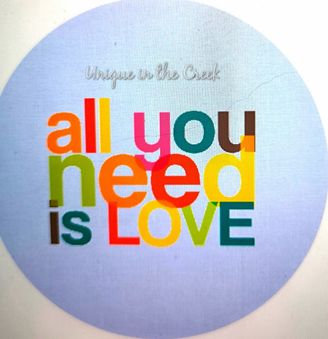 all you need is LOVE- digital insert for use with the UITC system