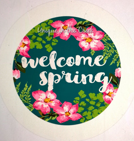 welcome spring teal- digital insert for use with the UITC system