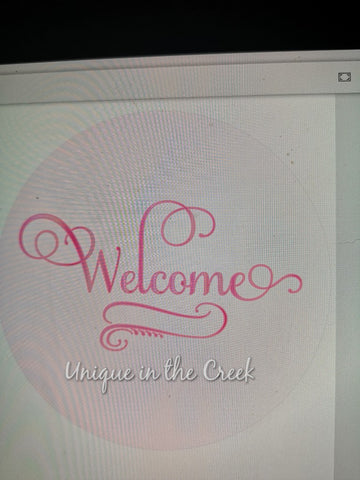 Welcome (pink)- digital insert for use with the UITC system