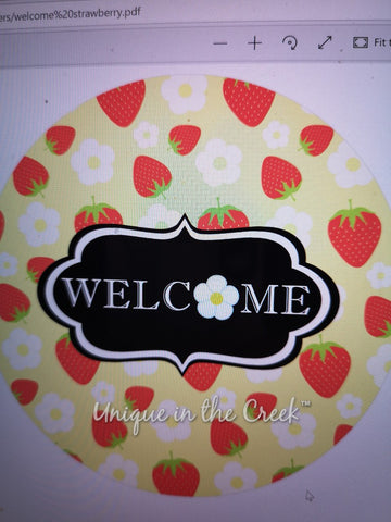 Welcome Strawberry - digital insert for use with the UITC system
