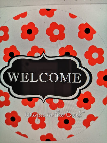 Welcome poppies - digital insert for use with the UITC system