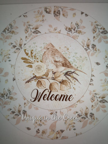 Digital (not a physical product) WELCOME shabby chic 2- for use with the UITC board