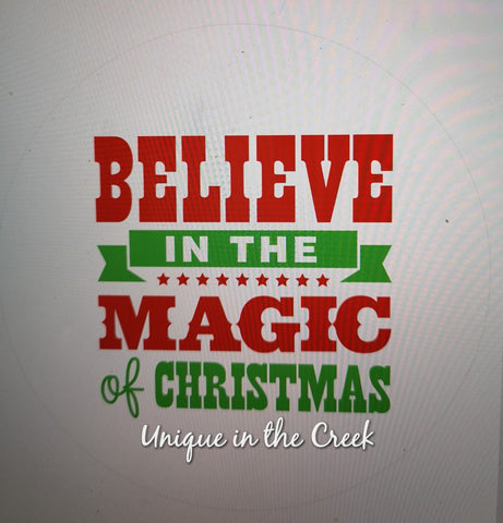 Believe in the Magic of Christmas 2- digital insert for use with the UITC system