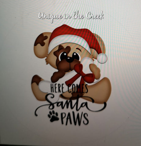 Here comes Santa Paws - digital insert for use with the UITC system