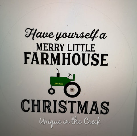 Have yourself a farmhouse Christmas - digital insert for use with the UITC system
