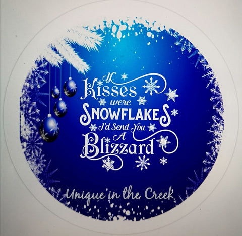If Kisses were snowflakes I'd send you a blizzard - digital insert for use with the UITC system