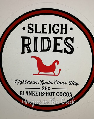 Sleigh rides- digital insert for use with the UITC system