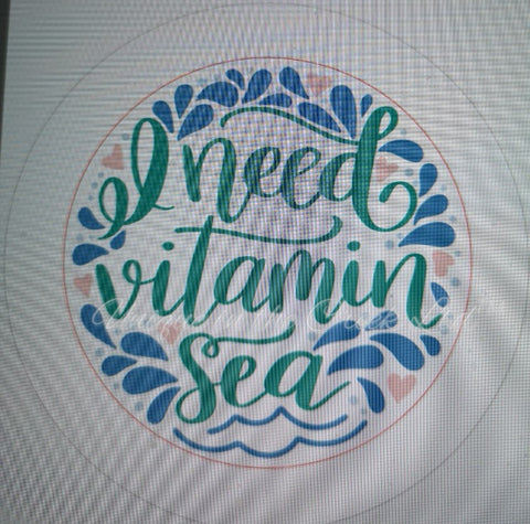 "526. I need vitamin Sea ""VINYL"" image center"