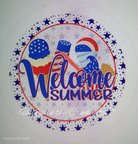 "539. Welcome Summer ""VINYL"" image center"