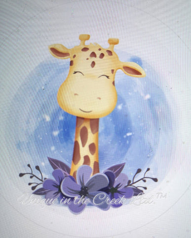 "611. Baby Giraffe ""PAPER"" image center"