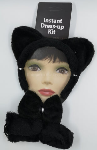 Plush 3 pc Black Cat set