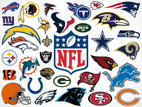 NFL Football Teams - Personal Use Only